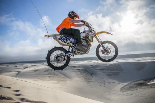 Oregon Dunes Motorcycle Jump from Torex ATV Rentals Shoot